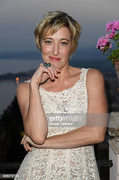 Valeria Bruni Tedeschi attends a cocktail party ahead of Nastri D'Argento on July 2 2016 in Taormina Italy