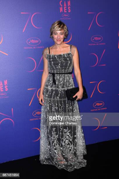 Valeria Bruni Tedeschi attends the 70th Anniversary Dinner during the 70th annual Cannes Film Festival at on May 23 2017 in Cannes France