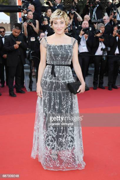Valeria Bruni Tedeschi attends the 70th Anniversary of the 70th annual Cannes Film Festival at Palais des Festivals on May 23 2017 in Cannes France