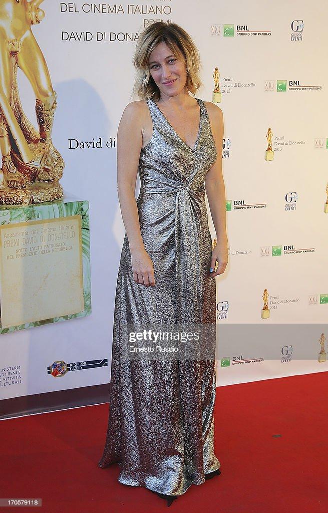 Valeria Bruni Tedeschi attends the David di Donatello Ceremony Awards at Dear on June 14, 2013 in Rome, Italy.