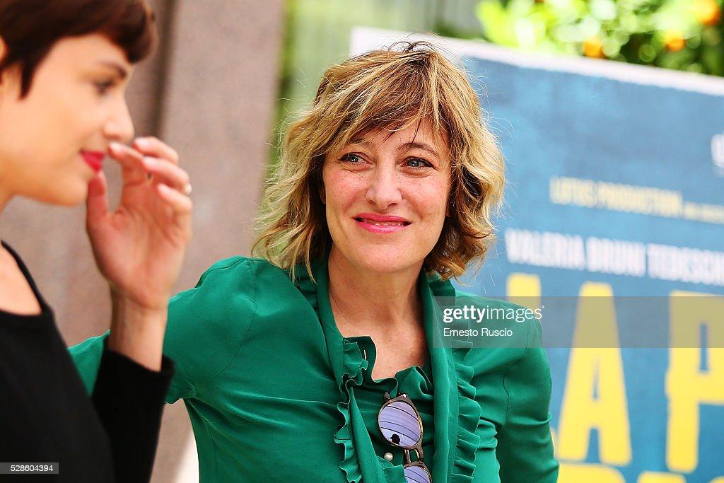 Valeria Bruni Tedeschi attends the 'La Pazza Gioia' photocall at Hotel Visconti on May 06, 2016 in Rome, .