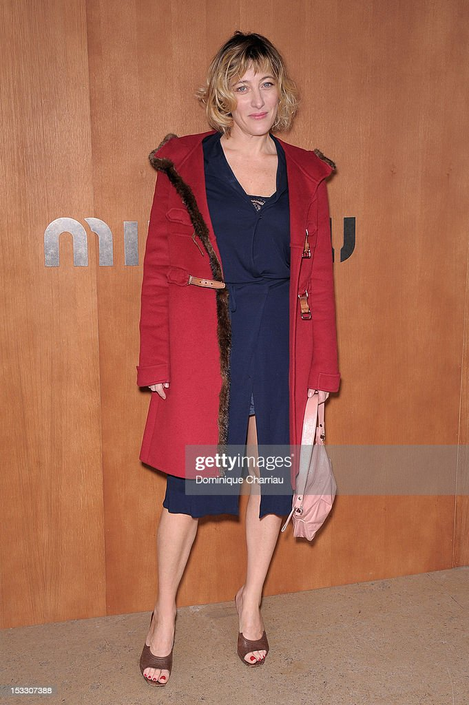 Valeria Bruni Tedeschi attends the Miu Miu Spring/Summer 2013 show as part of Paris Fashion Week on October 3, 2012 in Paris, France.