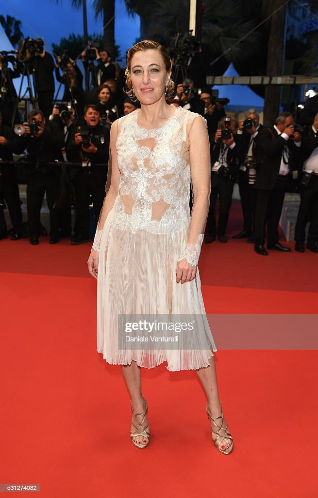 Valeria Bruni Tedeschi attends the 'Slack Bay (Ma Loute)' premiere during the 69th annual Cannes Film Festival at the Palais des Festivals on May 13, 2016 in Cannes, France.