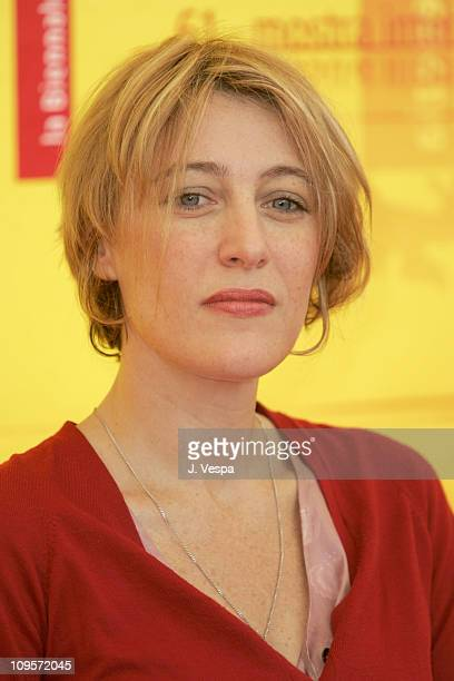 Valeria Bruni Tedeschi during 2004 Venice Film Festival '5x2 ' Photo Call at Casino in Venice Lido Italy