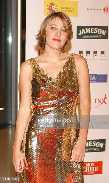Valeria BruniTedeschi during 2004 European Film Academy Awards at The Forum in Barcelona Spain