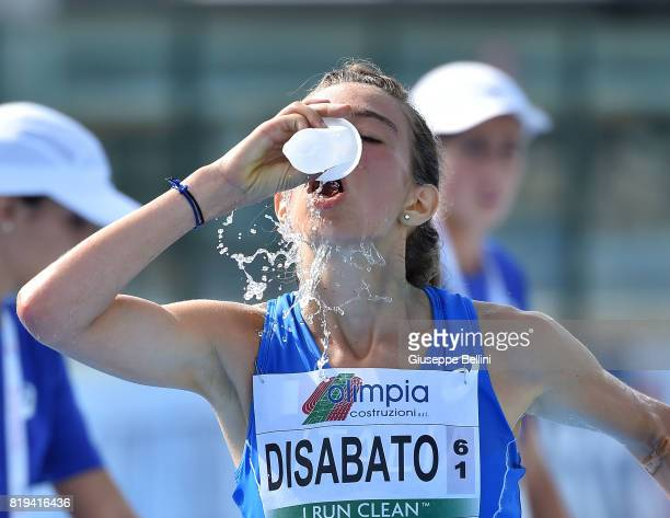 Valeria Disabato of Italy in action during European Athletics U20 Championships on July 20 2017 in Grosseto Italy