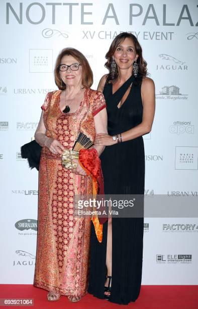 Valeria Fabrizi and Giorgia Giacobetti attend Anlaids Gala at Palazzo Doria Pamphilj on June 8 2017 in Rome Italy