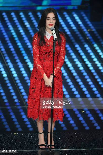 Valeria Farinacci attends the third night of the 67th Sanremo Festival 2017 at Teatro Ariston on February 9 2017 in Sanremo Italy