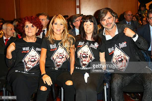 Valeria Fedeli Jo Squillo Valentina Pitzalis and Beppe Convertini attend 'Wall Of Dolls' screening during the 11th Rome Film Festival at Auditorium...