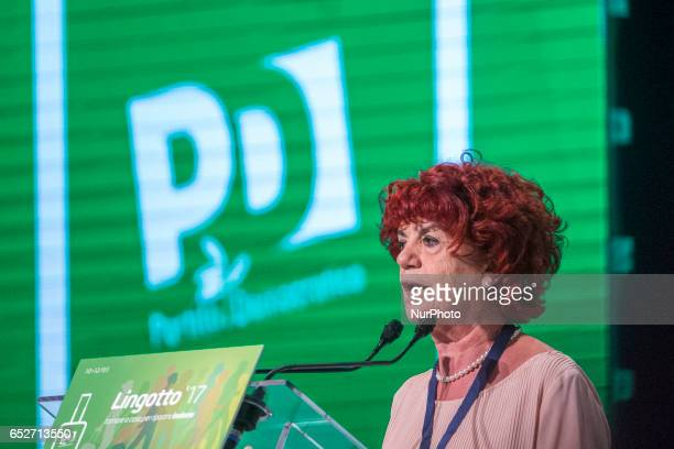 Valeria Fedeli speaks at Lingotto17 event to support Matteo Renzi She is the Minister of Education in the Gentiloni Cabinet The former Prime Minister...