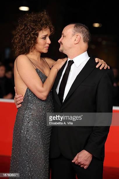 Valeria Golino and director Marco Simon Puccioni attend 'Come Il Vento' Premiere during The 8th Rome Film Festival on November 10 2013 in Rome Italy