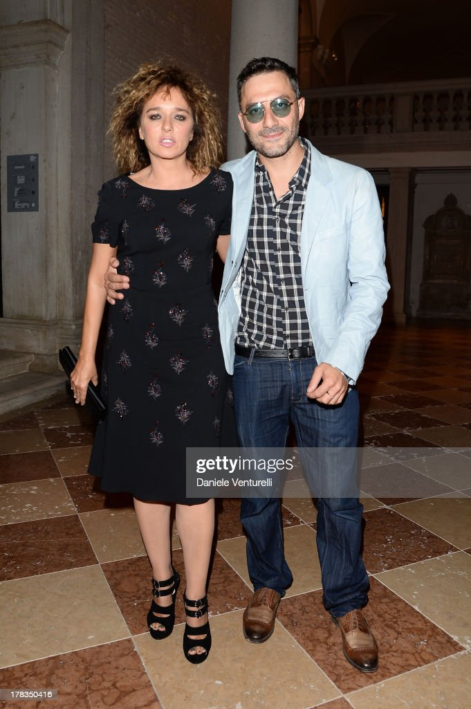 Valeria Golino and Filippo Timi attend the Miu Miu Women's Tales dinner hosted by Miuccia Prada at the Ca' Corner on August 29, 2013 in Venice, Italy.
