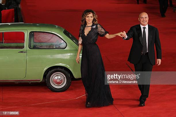 Valeria Golino and Luca Zingaretti attend 'La Kryptonite Nella Borsa' Premiere during 6th International Rome Film Festival on November 2 2011 in Rome...
