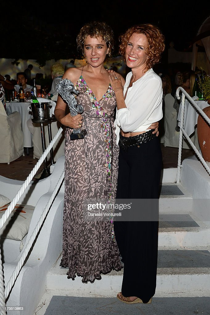 <a gi-track='captionPersonalityLinkClicked' href=/galleries/search?phrase=Valeria+Golino&family=editorial&specificpeople=676323 ng-click='$event.stopPropagation()'>Valeria Golino</a> and Lucrezia Lante Della Rovere attend the Day 3 of Ischia Global Fest 2013 on July 15, 2013 in Ischia, Italy.