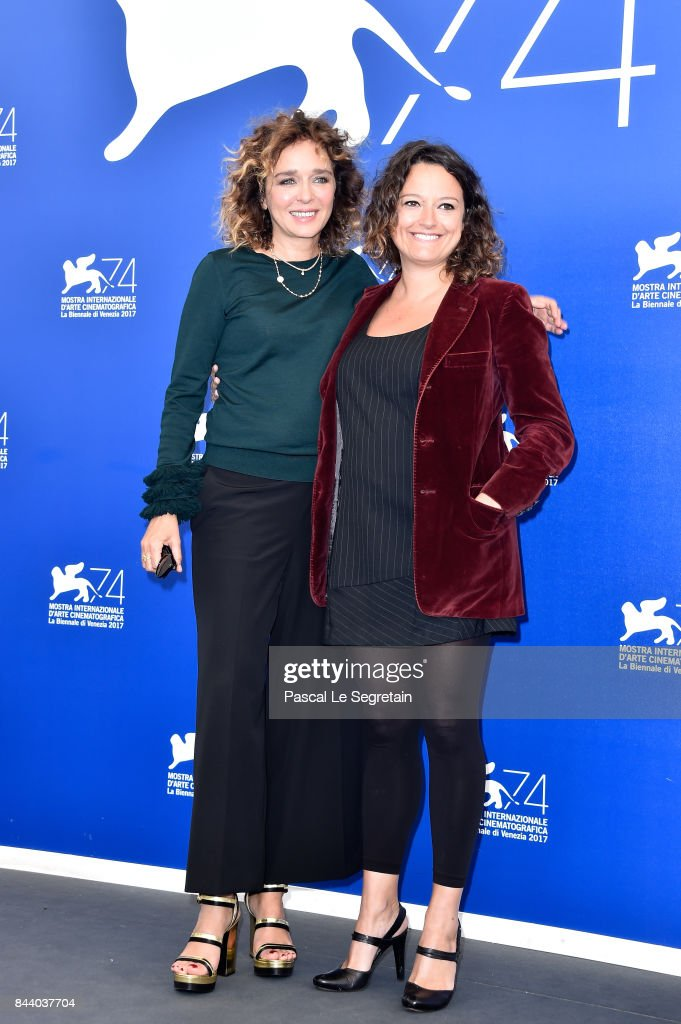 Valeria Golino and Ra Di Martino attend the 'Controfigura' photocall during the 74th Venice Film Festival at Sala Casino on September 8, 2017 in Venice, Italy.