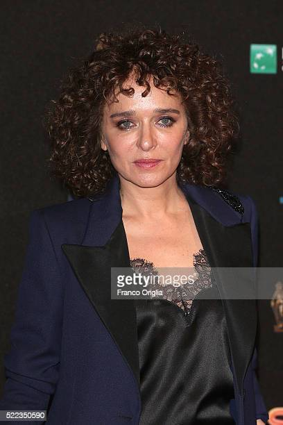 Valeria Golino arrives at the 60 David di Donatello ceremony on April 18 2016 in Rome Italy
