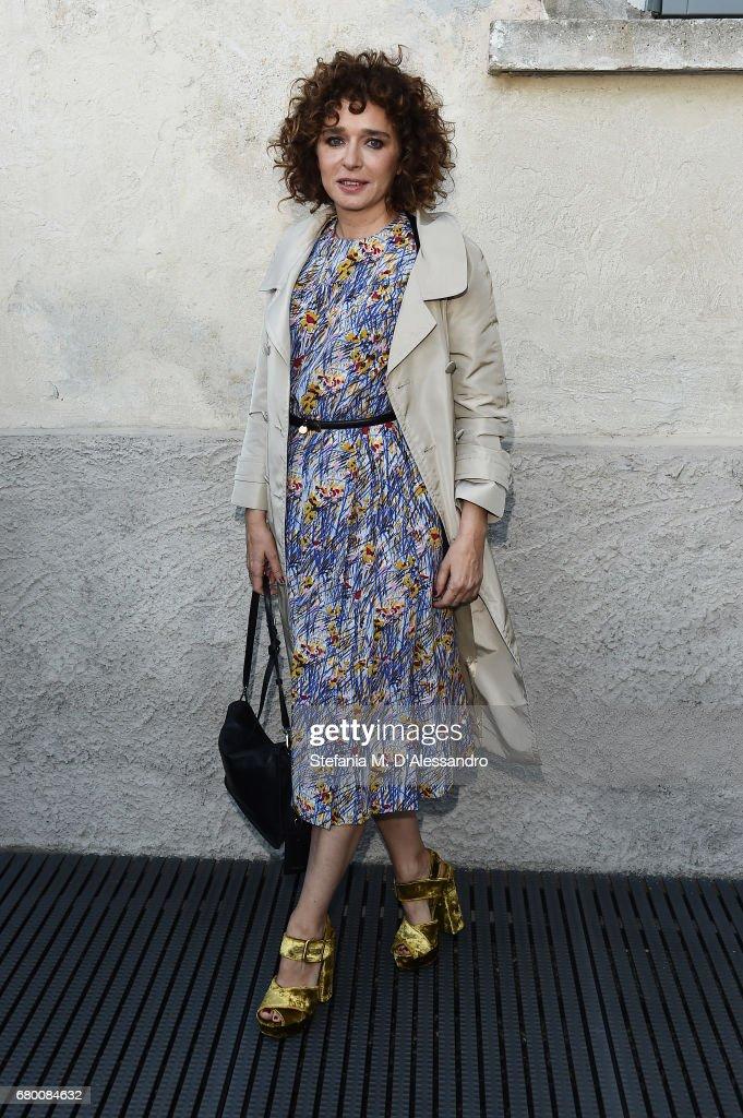 Valeria Golino attends a 'Private view of 'TV 70: Francesco Vezzoli Guarda La Rai' at Fondazione Prada on May 7, 2017 in Milan, Italy.