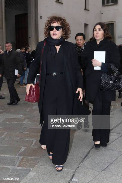 Valeria Golino attends a public mass honouring Franca Sozzani at Duomo on February 27 2017 in Milan Italy