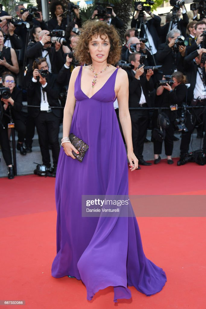 Valeria Golino attends the 70th Anniversary screening during the 70th annual Cannes Film Festival at Palais des Festivals on May 23, 2017 in Cannes, France.
