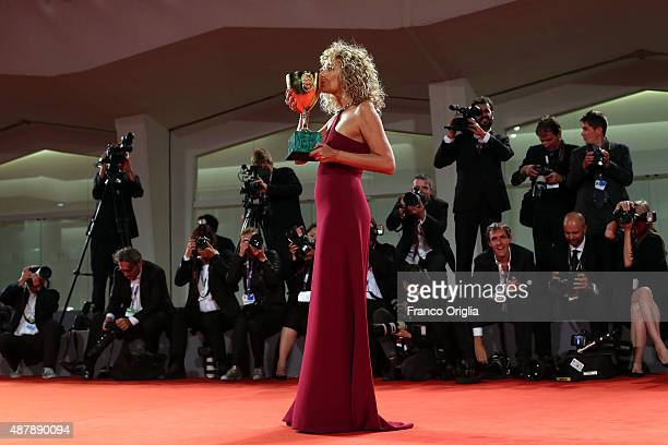 Valeria Golino attends the award winners photocall during the 72nd Venice Film Festival on September 12 2015 in Venice Italy