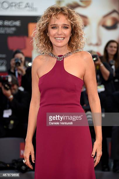 Valeria Golino attends the closing ceremony and premiere of 'Lao Pao Er' during the 72nd Venice Film Festival on September 12 2015 in Venice Italy