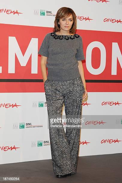 Valeria Golino attends the 'Come Il Vento' Photocall during the 8th Rome Film Festival at the Auditorium Parco Della Musica on November 9 2013 in...
