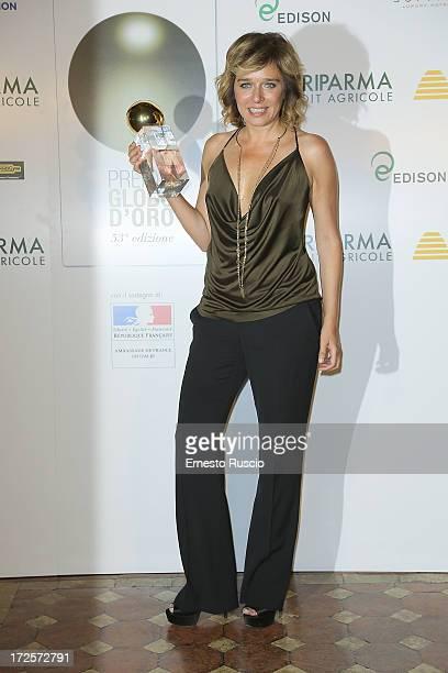Valeria Golino attends the Globo D'Oro Awards at Palazzo Farnese on July 3 2013 in Rome Italy