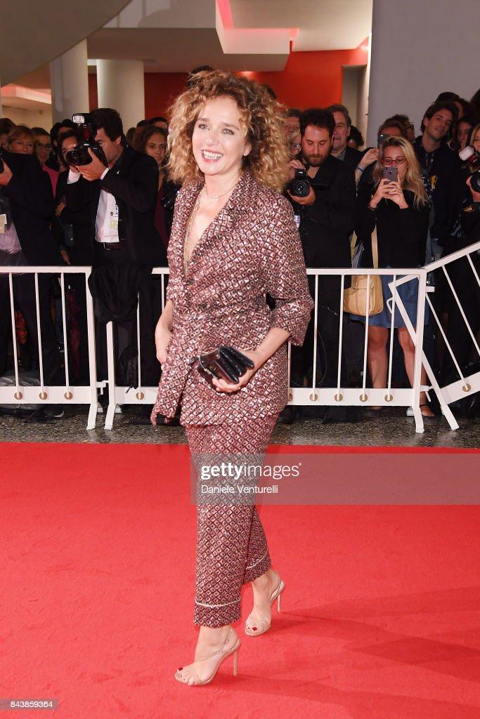 Valeria Golino walks the red carpet ahead of the 'Emma (Il Colore Nascosto Delle Cose)' screening during the 74th Venice Film Festival at Sala Grande on September 7, 2017 in Venice, Italy.