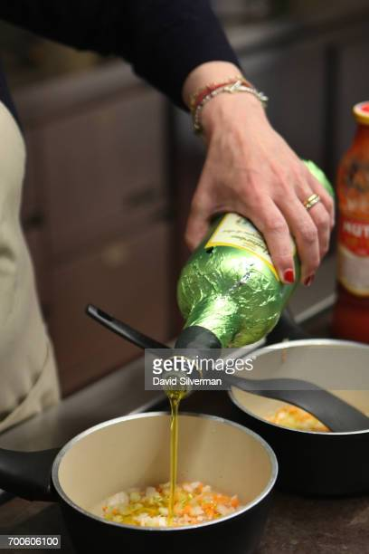 Valeria Hensemberger adds extravirgin Italian olive oil to her soffritto a mix of onion carrot and celery fried in olive oil and the base of many...