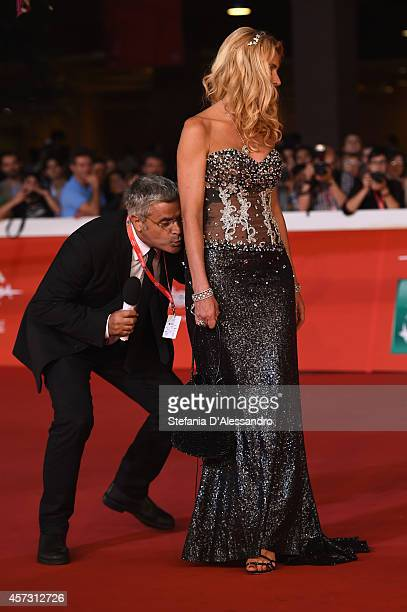 Valeria Marini and Enrico Lucci attend the Rome Film Festival Opening and 'Soap Opera' Red Carpet during the 9th Rome Film Festival at Auditorium...