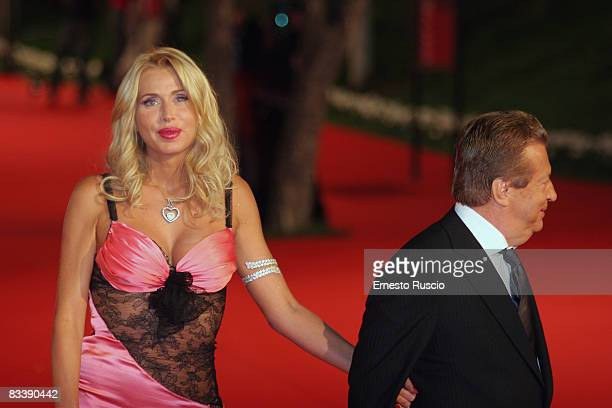 Valeria Marini and Vittorio Cecchi Gori attend the Marc' Aurelio Acting Award ceremony at the Auditorium on October 22 2008 in Rome Italy