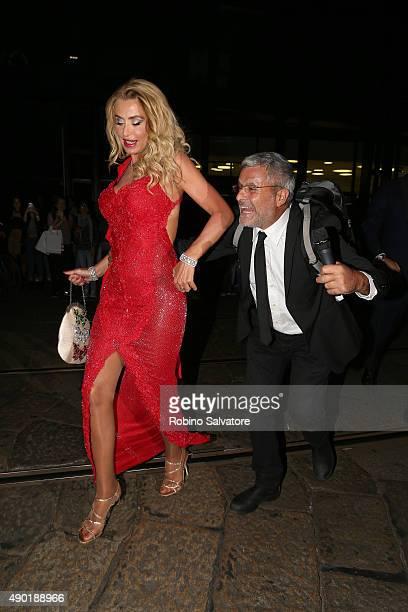 Valeria Marini arrives at amfAR Milano 2015 at La Permanente on September 26 2015 in Milan Italy