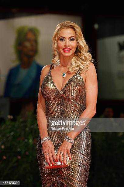 Valeria Marini attends a premiere for 'De Palma' And 'JaegerLeCoultre Glory to the Filmmaker 2015 Award' during the 72nd Venice Film Festival at Sala...
