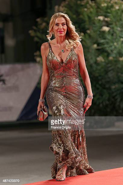 Valeria Marini attends a premiere for 'De Palma' And JaegerLeCoultre Glory to the Filmmaker 2015 Award during the 72nd Venice Film Festival at Sala...