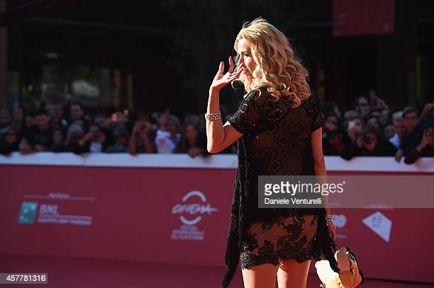 Valeria Marini attends Kevin Costner On the Red Carpet during the 9th Rome Film Festival at Auditorium Parco Della Musica on October 24 2014 in Rome...