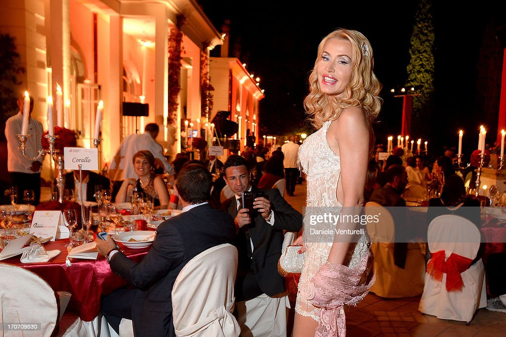 Valeria Marini attends Taormina Filmfest and Prince Albert II Of Monaco Foundation Gala Dinner at on June 16, 2013 in Taormina, Italy.