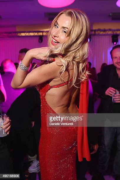 Valeria Marini attends the amfAR Milano 2015 after party at La Permanente on September 26 2015 in Milan Italy