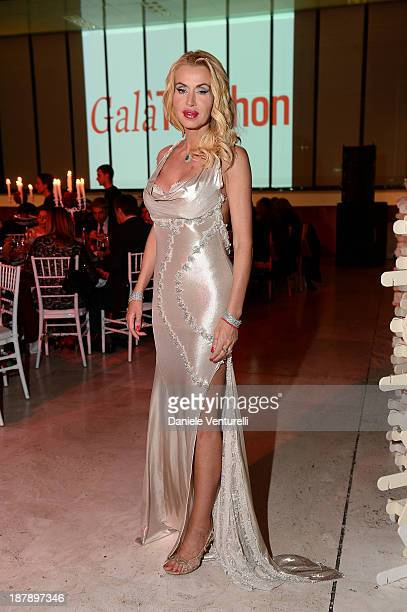 Valeria Marini attends the Gala Telethon 2013 Roma during The 8th Rome Film Festival on November 13 2013 in Rome Italy