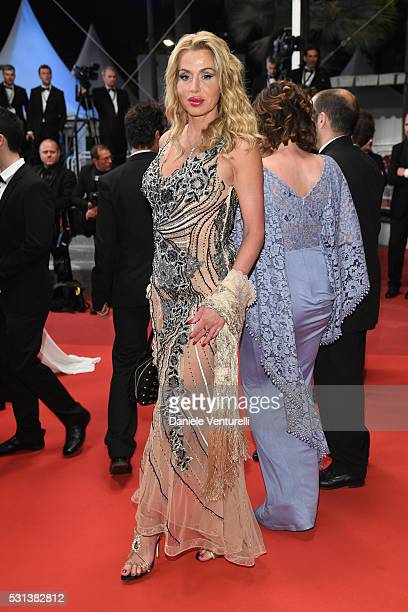 Valeria Marini attends 'The Handmaiden ' premiere during the 69th annual Cannes Film Festival at the Palais des Festivals on May 14 2016 in Cannes...