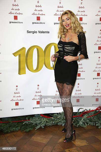 Valeria Marini attends the 'Il Natale Dei 100 Alberi d'Autore 100 Christmas Trees By Designers' benefit night at Palazzo Torlonia on December 11 2014...