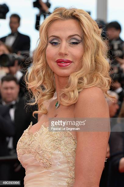 Valeria Marini attends the Opening ceremony and the 'Grace of Monaco' Premiere during the 67th Annual Cannes Film Festival on May 14 2014 in Cannes...