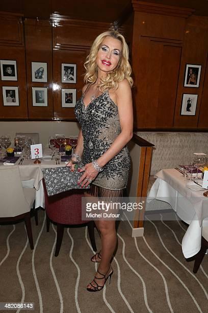 Valeria Marini attends the 'Penati Al Baretto' Opening Dinner at Hotel De Vigny on April 2 2014 in Paris France