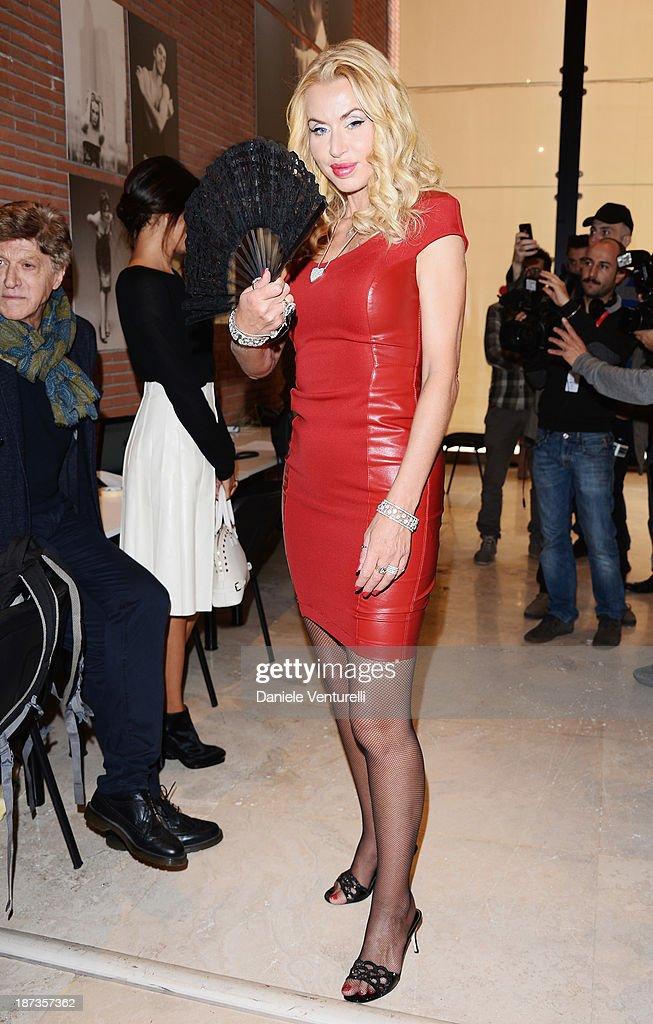 Valeria Marini attends the Rome Film Festival Opening Press Conference during the 8th Rome Film Festival at the Auditorium Parco Della Musica on November 8, 2013 in Rome, Italy.