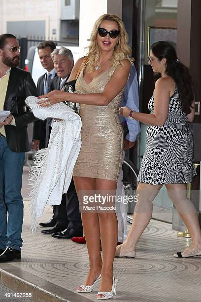 Valeria Marini is seen at the 'Martinez' hotel on day 3 of the 67th Annual Cannes Film Festival on May 16 2014 in Cannes France