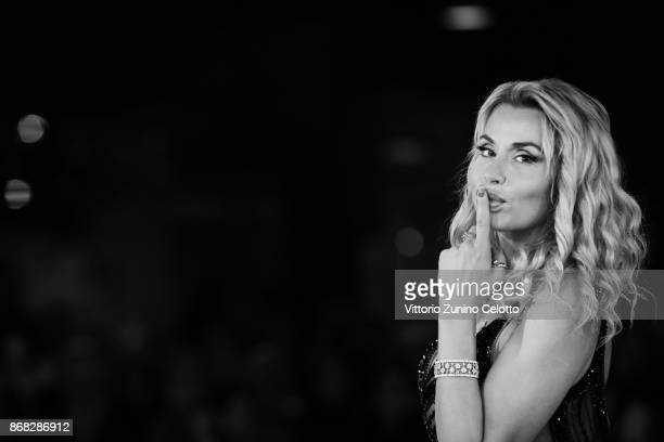 Valeria Marini walks a red carpet for 'Good Food' during the 12th Rome Film Fest at Auditorium Parco Della Musica on October 30 2017 in Rome Italy