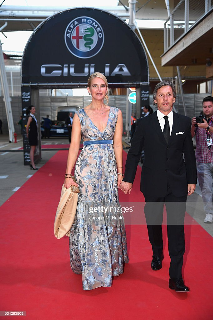 Valeria Mazza and Alejandro Gravier arrive at Bocelli and Zanetti Night on May 25, 2016 in Rho, Italy.