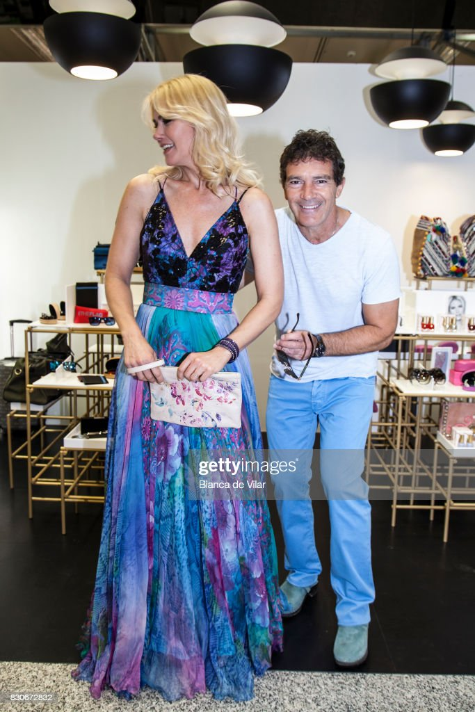 Valeria Mazza and Antonio Banderas present their new collections on August 12, 2017 in Marbella, Spain.