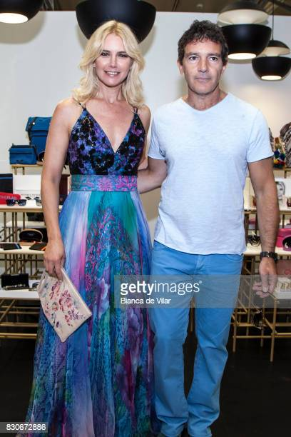 Valeria Mazza and Antonio Banderas present their new collections on August 12 2017 in Marbella Spain