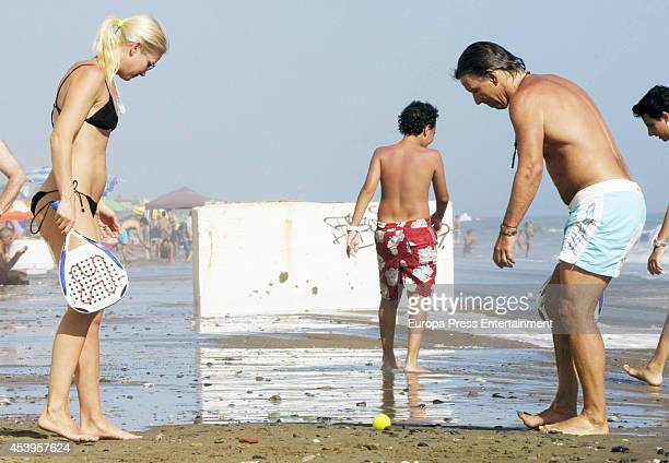 Valeria Mazza and her husband Alejandro Gravier are seen on August 13 2014 in Marbella Spain