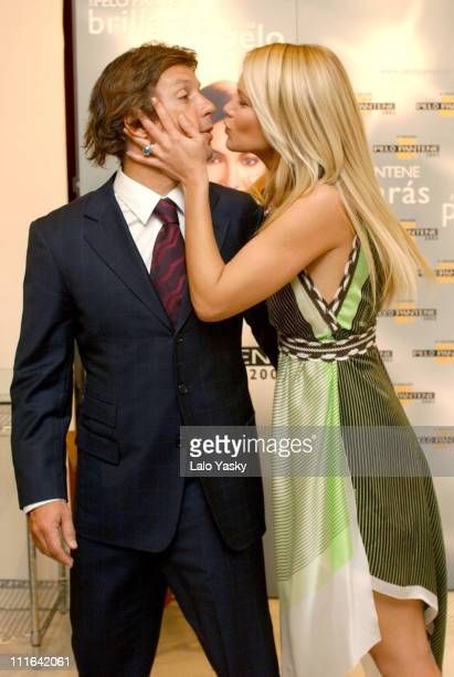 Valeria Mazza and husband Alejandro Gravier during Supermodel Valeria Mazza presides over the 'Pelo Pantene 2003' awards at Palacio de Gaviria in...